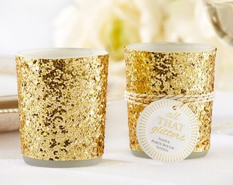 Glitter Gold Votive Cup With