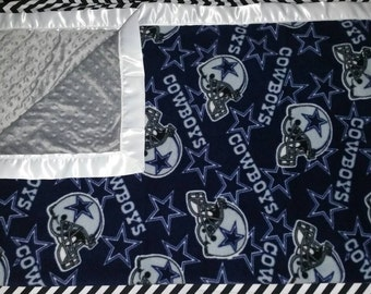 Dallas Cowboys NFL minky baby blanket (all teams available)