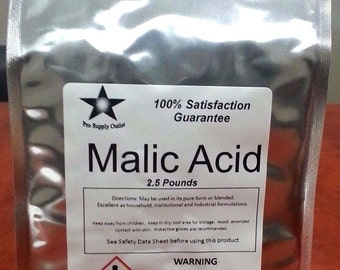 Malic Acid FCC/ Food Grade 2.5 Lb Pack 9905