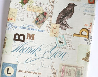 Wrapping Paper Postage Stamp Vintage