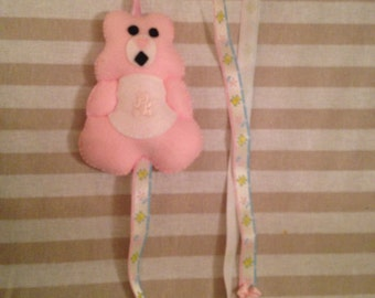 Hair clip holder, bear hair clip holder