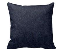Indigo Denim Throw Pillow Cover by Primal Vogue™ - Sizes 12x12 14x14 16x16 18x18 20x20 24x24 - Lumbar or Square - Prewashed Kaufman Cotton