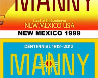 Personalized New Mexico Refrigerator Magnet State License Plate Replica
