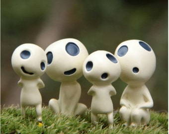 Princess Mononoke Studio Ghibli Kodama Miniature terrarium Figurine DIY craft supply