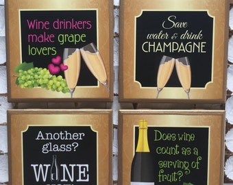 COASTERS!!!! Funny wine lover's coasters