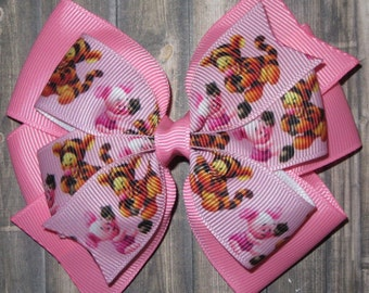 Tigger and Piglet Hair Bow / Winnie the Pooh Bows / Winnie the Pooh / Tigger / Piglet / Tigger Bows / Piglet Bows / Tigger and Piglet Party