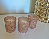 ON SALE 25 rose gold votive candles, Wedding Centerpiece, Rose Gold Centerpieces, Rose Gold Wedding, Wedding, Table Decorations, Wedding Gif
