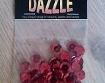 5 Grams of Craft Dazzle Sequins *Red or Black* *FREE UK SHIPPING*