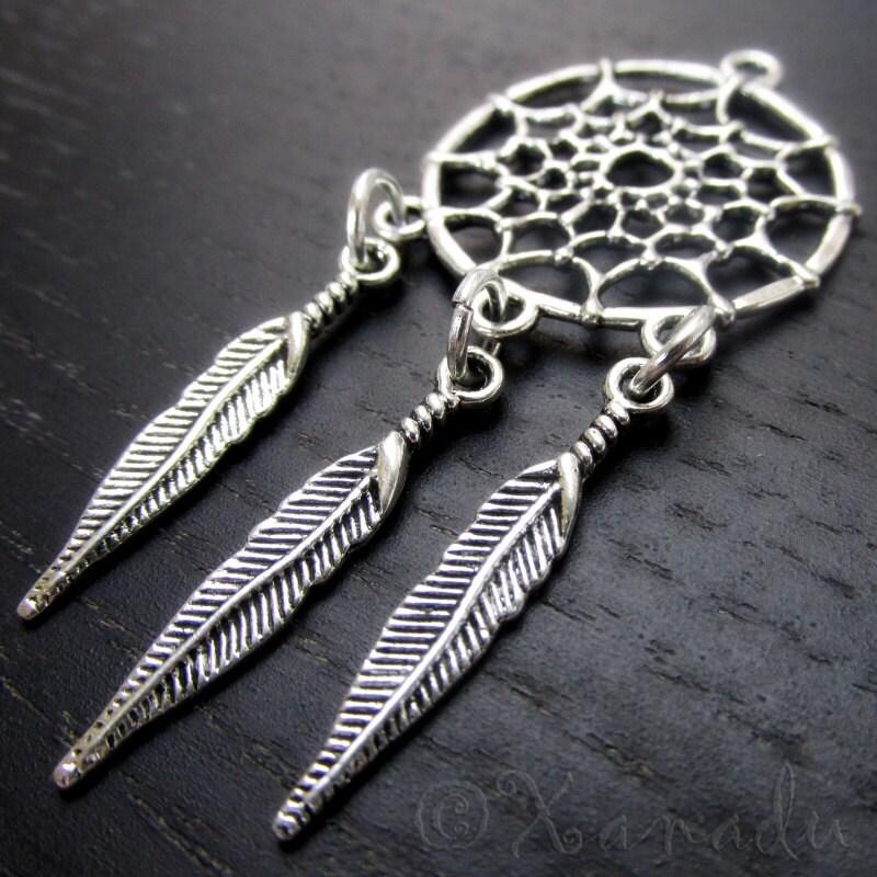 dream catcher pendants 2 5 10 wholesale antiqued silver