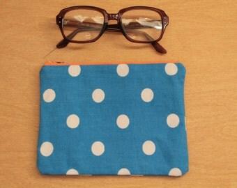 Blue and Orange zipper pouch