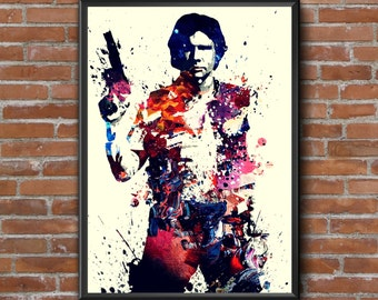 Han Solo Star Wars Art Poster Print Large A1 size Poster