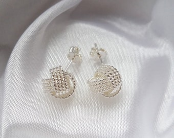 Dreamy knot earrings, 925 silver