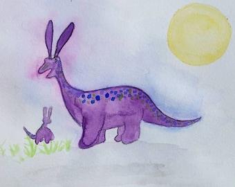 Bunnysaurus Watercolor