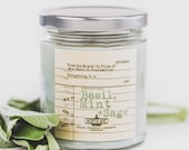 Basil, Mint + Sage / Inspired by The Mixed Up Files / Basil E Frankweiler / Book Candle / Literary Candle / Basil Candle / Herbal Candle