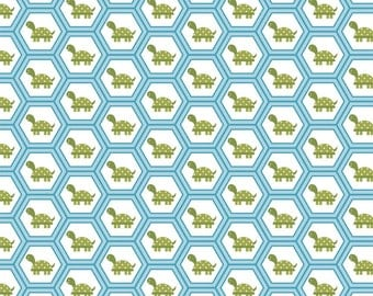Fine and Dandy Turtle Hexagon Hexi Honeycomb Fabric