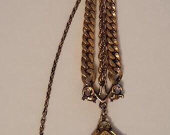 Antique Fancy Victorian GOLD-FILLED Pocket WATCH Locket Fob Circa 1900