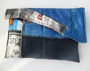 Gift for her, Perfect gift bag denim blue waist, for woman, hip bag