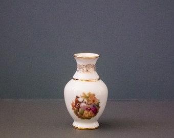 Vintage flower bud vase white, LIMOGES, romantic Couple bone china,collectable