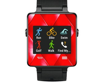 Skin Decal Wrap for Garmin Vivoactive Forerunner, Vivoactive Forerunner Hr Watch cover sticker Red Upholstery