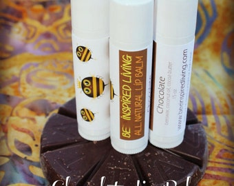 Chocolate Beeswax Lip Balm with Cocoa Butter