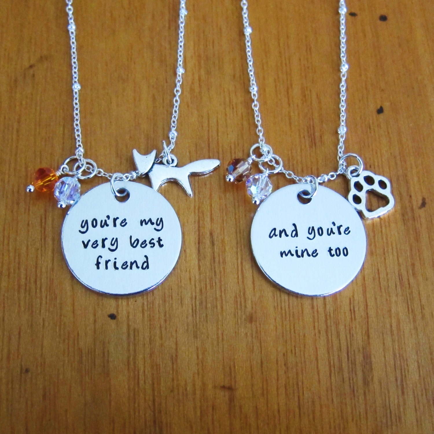 hound and fox friendship necklaces you re my
