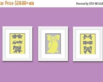 ON SALE Bows Art Print, Childrens Art Print, Girls Art Print, Wall Art, Kids Art Print, 520