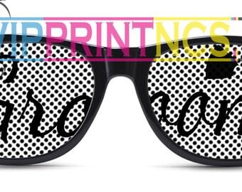 Groom Customized  Wedding Sunglasses Print Cursive Bowtie