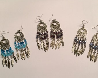 Feather Bead Dangle