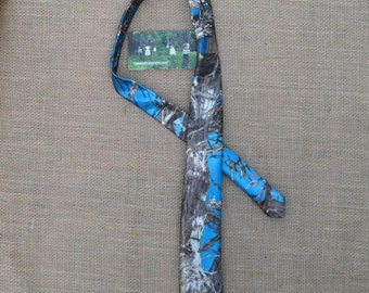 Boys & Men Camo traditional Ties Available in 22 camo colors. #15 TrueTimber Blue satin in fabric selection