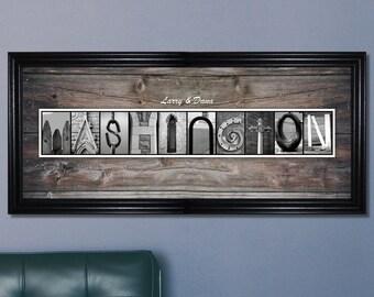 Wedding Gift, Wedding Shower, Housewarming, Home Decor, Letter Art, Wall Decor, Personalized Letter Art, Name Print, Unique Wedding Gift