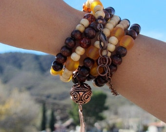 Amber Wood Necklace