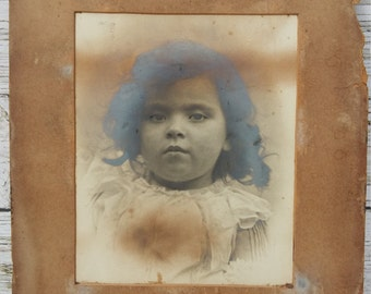 Vintage Photo of Young Victorian girl.