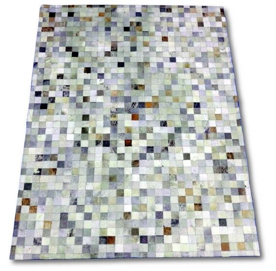 g 583 br silien taupe gris peau de vache patchwork tapis. Black Bedroom Furniture Sets. Home Design Ideas
