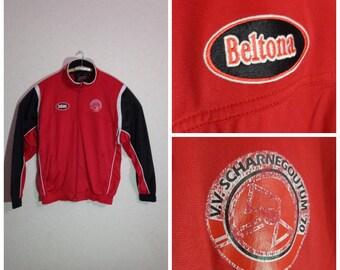 80s.Sports Jacket BELTONA Zipper Pockets Extra Large Size