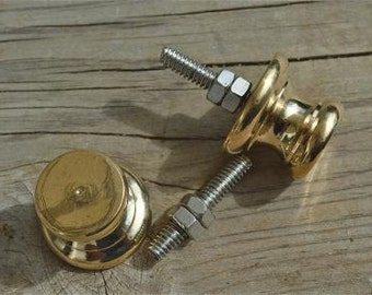 A pair of superb quality antique brass furniture knobs Z14