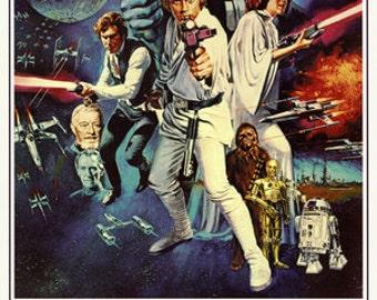 Wall Art Poster Art Star Wars Episode 4 IV 24 x 36 poster