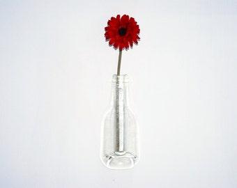 Glass Vase Recycled Bottle Vase Single Flower Vase Eco Gift, Free Postage to UK