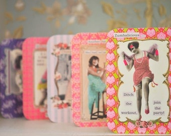 Diva Greeting Card: Zumbalicious, ditch the workout join the party