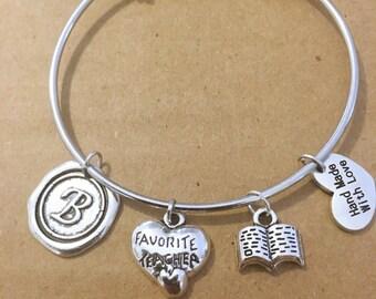 Favorite Teacher Charm Bracelet