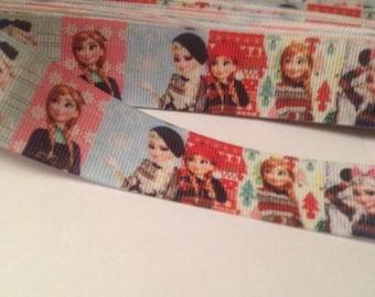"""Frozen Winter Scene Ribbon 1"""""""