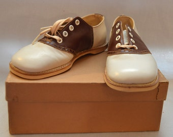 Vintage Poll Parrot Children's Shoes - Saddle Shoes, NIB, 1940s or 1950s
