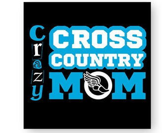 Cross Country, Crazy Cross Country Mom, Track, Running, School, Sports, Illustration, TShirt Design, Cut File, svg, pdf, eps, png, dxf