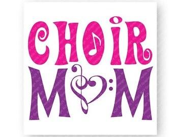 Choir Mom, Music, Music Note, Treble Clef, Bass Clef, TShirt Design, Cut File, svg, pdf, eps, png, dxf