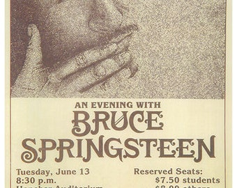 Bruce Springsteen 1978 Concert Poster Iowa - Ships FREE