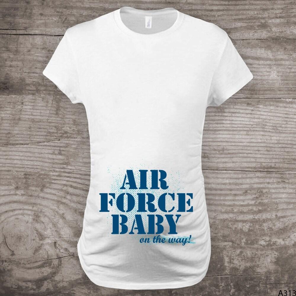 Air force Maternity shirt Military shirts Pregnancy