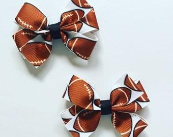 Football pinwheel hairbow