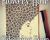Flowery Hair Detailed Col...