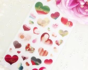 Foil Heart Stickers...