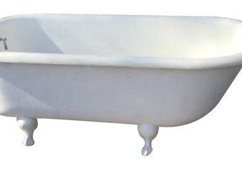 Cottage Chic White Claw Foot Bathtub