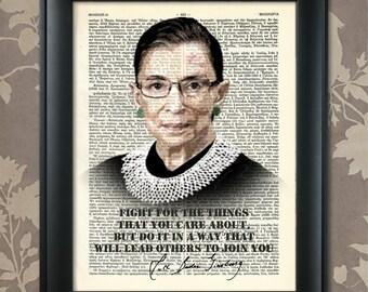 Ruth Bader Ginsburg, Quote, Ruth Bader print, Ruth Bader Art, Ruth Bader Poster, Ruth Bader Gift, Ruth Bader Decor, Ruth Bader Quote, Judge